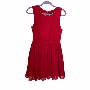 B.smart Red and Lace maxi formal dress